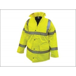 Hi Vis Parka - Yellow - Heavy Duty Work Site Jacket
